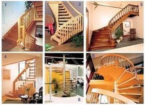 Деревянная лестница загородного дома