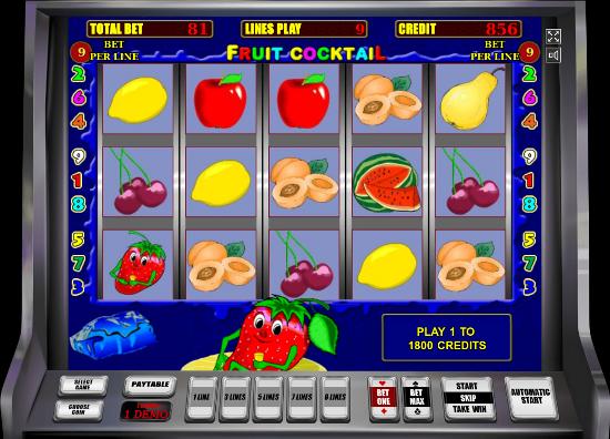 Игровой автомат Fruit Cocktail - классика слотов онлайн казино Вулкан Удачи