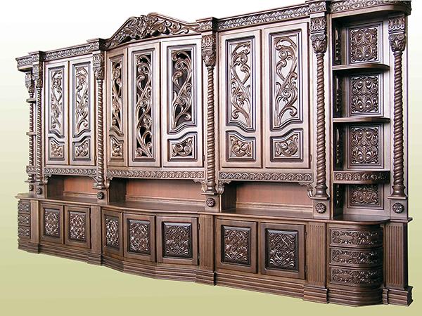 Корпусная мебель для декора из дубового массива. Изделия из дуба