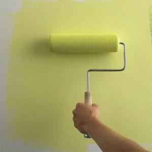 Окраска рельефной стены
